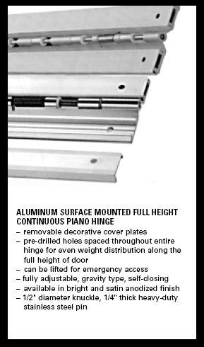 Continuous Piano Hinge - Laminating Technologies A Division of YTI Enterprises, Inc.